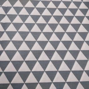 Бязь Ranforce серо-белые треугольники