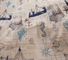 Бязь Ranforce морская тема Морской конек