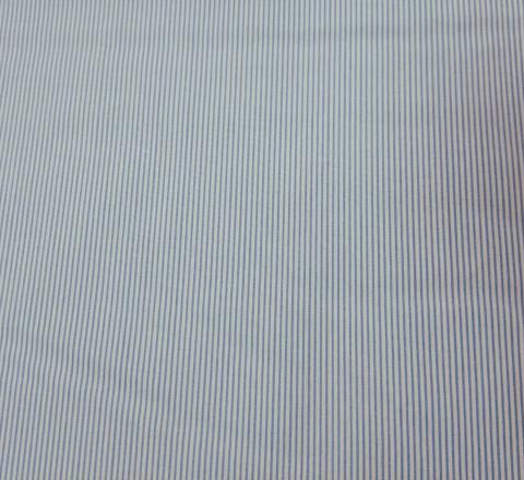 Бязь Ranforce голубо-белая полоса узкая