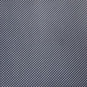 Бязь Ranforce белый горох на темно-синем фоне мелкий