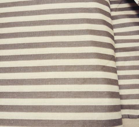Бязь модная. Кофейно-коричневая полоса широкая