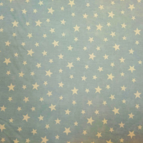 Бязь Ranforce белые звезды на голубом фоне средние