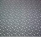 Бязь Ranforce белые звезды на сером фоне маленькие
