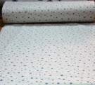 Бязь Ranforce серые звезды на белом фоне маленькие