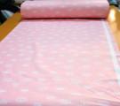 Бязь Ranforce белые короны на розовом фоне