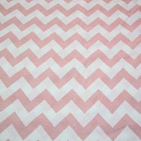 Бязь Ranforce розово-белый зигзаг широкий