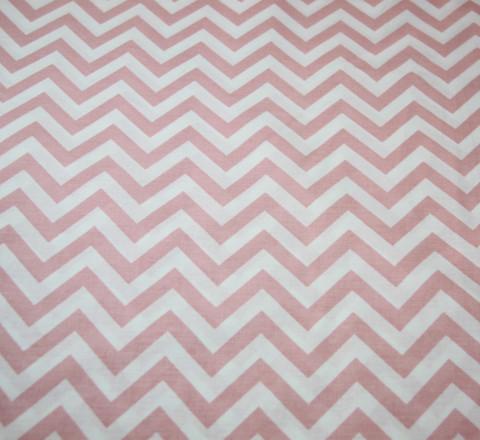 Бязь Ranforce розово-белый зигзаг узкий
