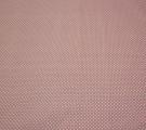 Бязь Ranforce белый горох на пыльно-розовом фоне мелкий
