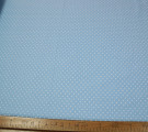 Бязь Ranforce белый горох на голубом фоне крупный