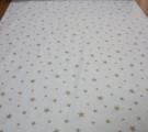 Бязь Ranforce карамельные звезды на белом фоне средние