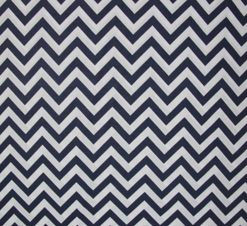 Бязь Ranforce сине-белый зигзаг узкий