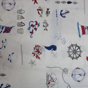 Бязь Ranforce морская тема, рисунки с морской тематикой