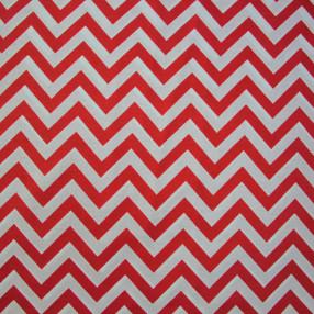 Бязь Ranforce красно-белый зигзаг узкий