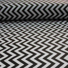 Бязь Ranforce черно-белый зигзаг узкий