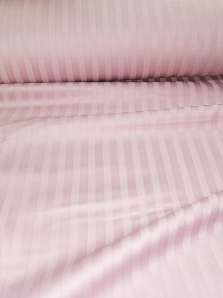 Страйп-сатин. Пыльно-розовый 1см