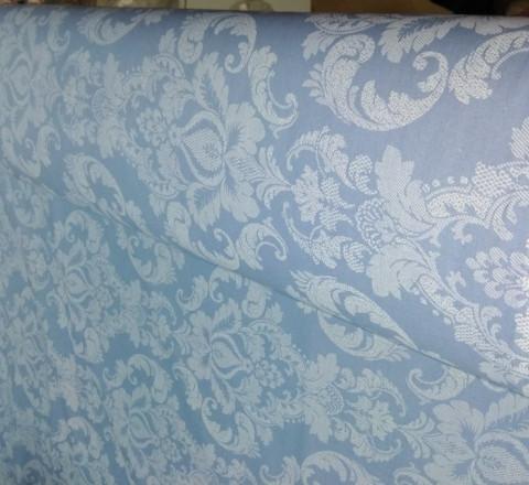 Поплин ш220см. Жаккард на пыльно-синем фоне
