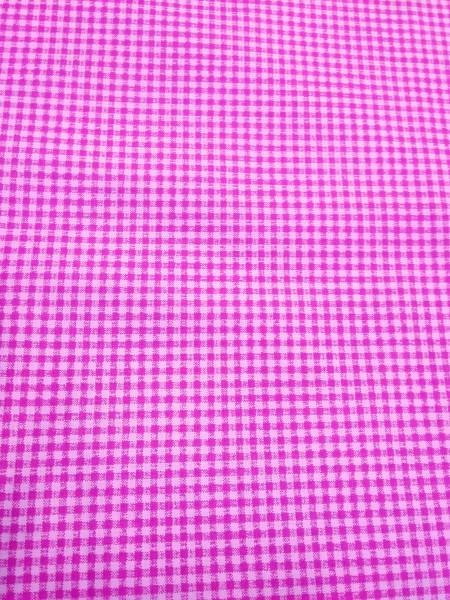 Бязь Ranforce ярко-розовая клетка