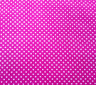 Бязь Ranforce белые горошки на ярко-розовом фоне маленькие частые