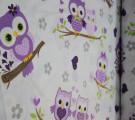 Бязь Ranforce совушки фиолетовые