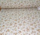 """Бязь Ranforce """"Прованс"""" оранжевые цветы на белом фоне"""