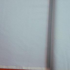 Бязь Ranforce голубые горошки на белом фоне маленькие частые