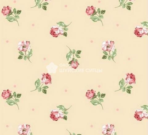 Бязь ш 220см. ГОСТ Маленькие розы