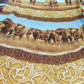 Бязь ш 220см. ГОСТ Слоны, сафари