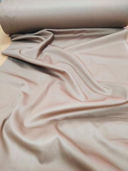 Сатин. Гладкокрашенный кремово-коричневый К-02