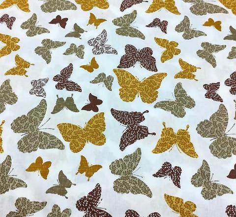 Бязь Ranforce  серо-рыжие бабочки