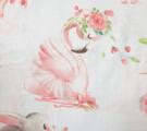 Перкаль. Балерины и розы на белом фоне