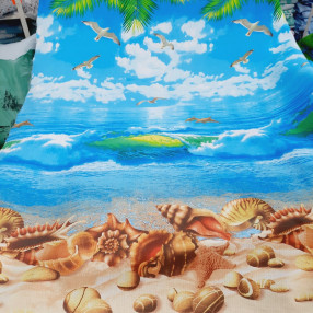 Вафельное полотно. Пляж