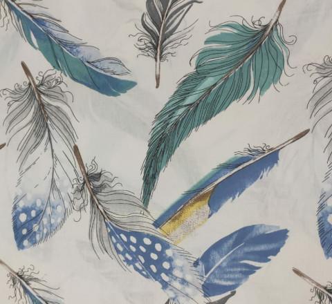 Бязь Ranforce. Голубые перья