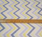 Бязь Ranforce  серо-желтый рябой зигзаг