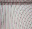 Бязь Ranforce розовая полоса с золотым глиттером