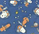 Бязь Ranforce Снуппи в космосе на синем фоне