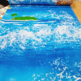 Вафельное полотно. Море и очки