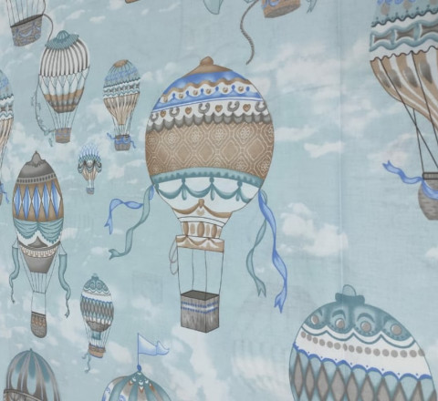 Бязь Ranforce воздушные шары на мятном фоне