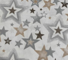Бязь Ranforce  серо-коричневые звезды разные