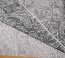 Бязь Ranforce  восточные огурцы на серо-графитовом фоне с эффектом старины