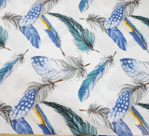 Бязь Ranforce Голубые перья