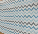 Бязь Ranforce голубые и серые зигзаги