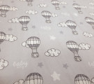 Фланель. Воздушный шар на сером фоне