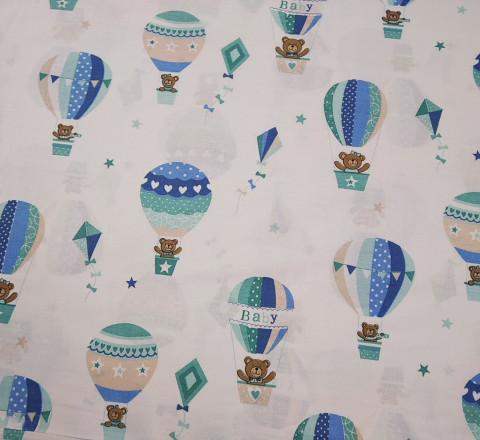 Бязь Ranforce мишки на воздушных шарах