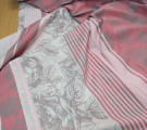 Бязь Ranforce розы на пыльно-розовом с купоном