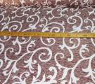 Бязь Кубанка ш 220см. Белый вензель на коричневом