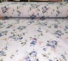 Бязь Ranforce синие цветочки на голубом фоне