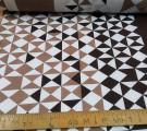 Бязь Ranforce  Коричневые треугольники