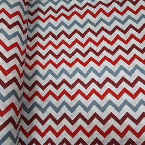 Бязь Ranforce зигзаг бордовый, красный и серый