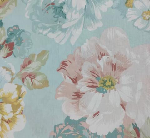 Бязь Ranforce акварельные цветы
