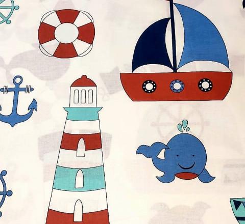 Бязь Ranforce морская тема детская